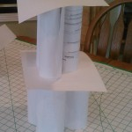 Cylinder paper tower