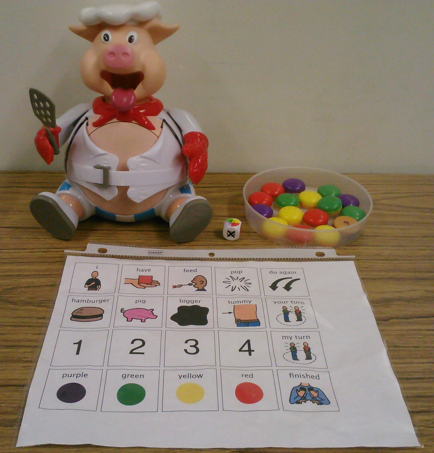 pop the pig game adaptation in spontaneous speech