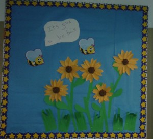 Back to school sunflowers