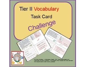 Tier II vocab button